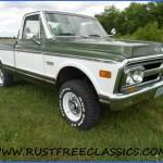 1972 Gmc K10 Super Custom Factory 4x4 Short Bed Swb Green White
